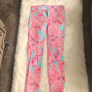 Teal and coral Lilly Pulitzer pants